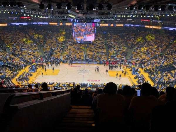 Oracle Arena, sección: 216, fila: 10, asiento: 17