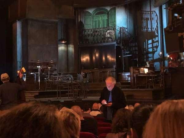 Walter Kerr Theatre, sección: Orchestra, fila: M, asiento: 20