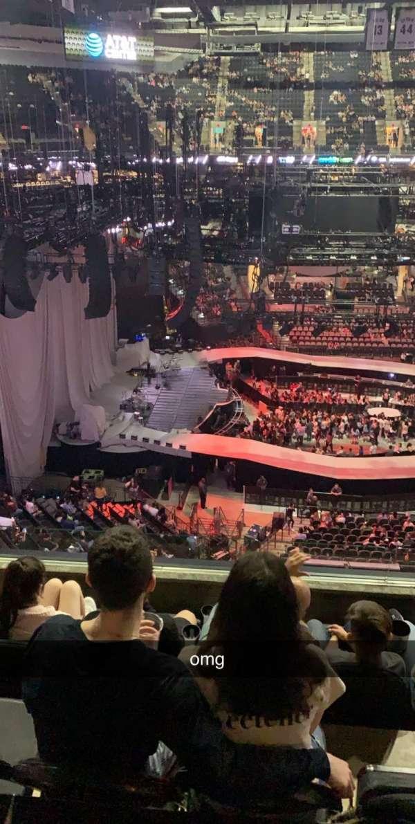 AT&T Center, sección: 210, fila: 5, asiento: 8