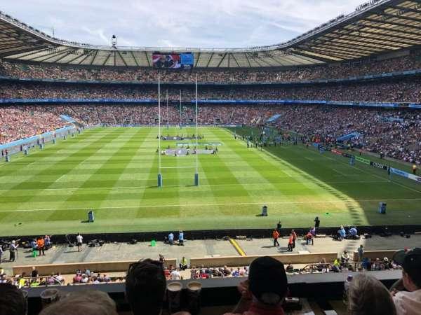 Twickenham Stadium, sección: M20, fila: 53, asiento: 133