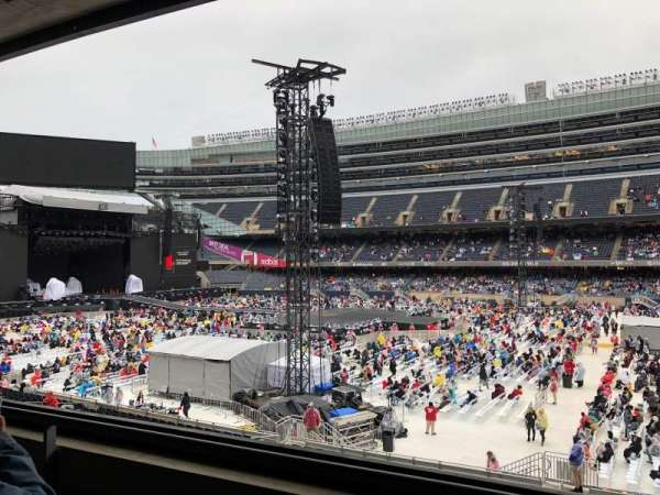 Soldier Field, sección: 234, fila: 2, asiento: 12