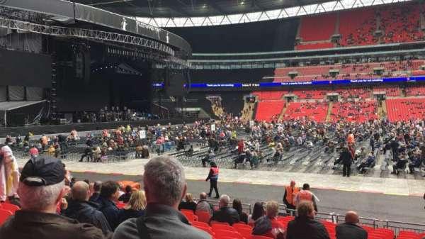 Wembley Stadium, sección: B, fila: 16, asiento: Ee