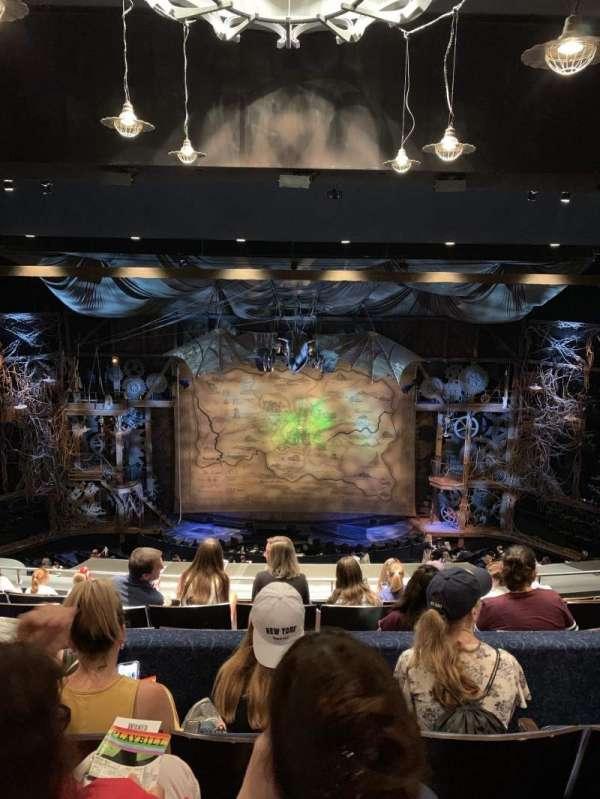 Gershwin Theatre, sección: Rear Mezzanine, fila: H, asiento: 109 and 110