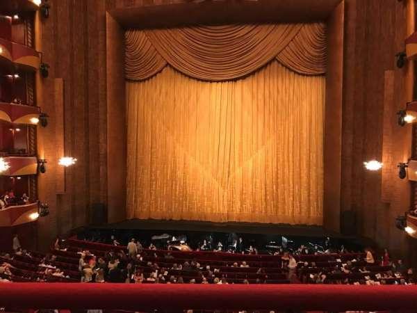 Metropolitan Opera House - Lincoln Center, sección: Grand Tier, fila: A, asiento: 110