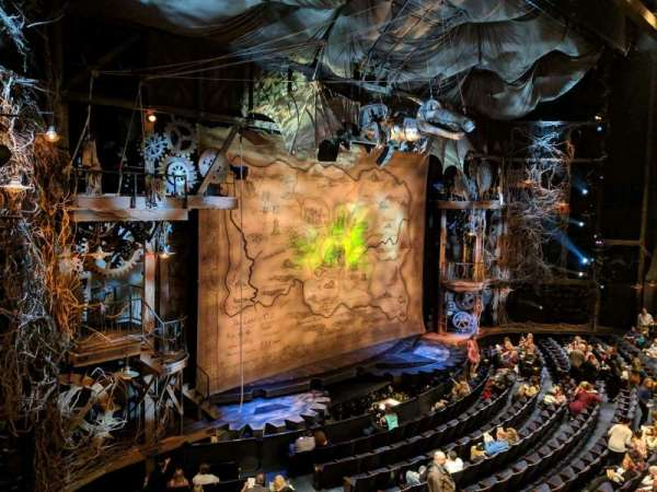 Gershwin Theatre, sección: FMEZZ, fila: BB, asiento: 1