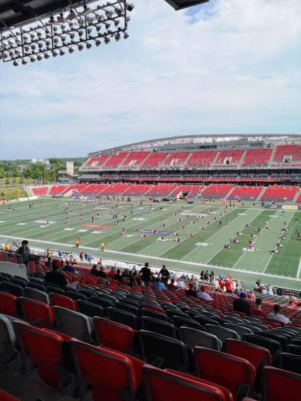 TD Place Stadium, sección: BB, fila: 9, asiento: 22