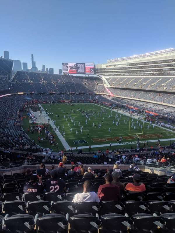 Soldier Field, sección: 325, fila: 16, asiento: 5