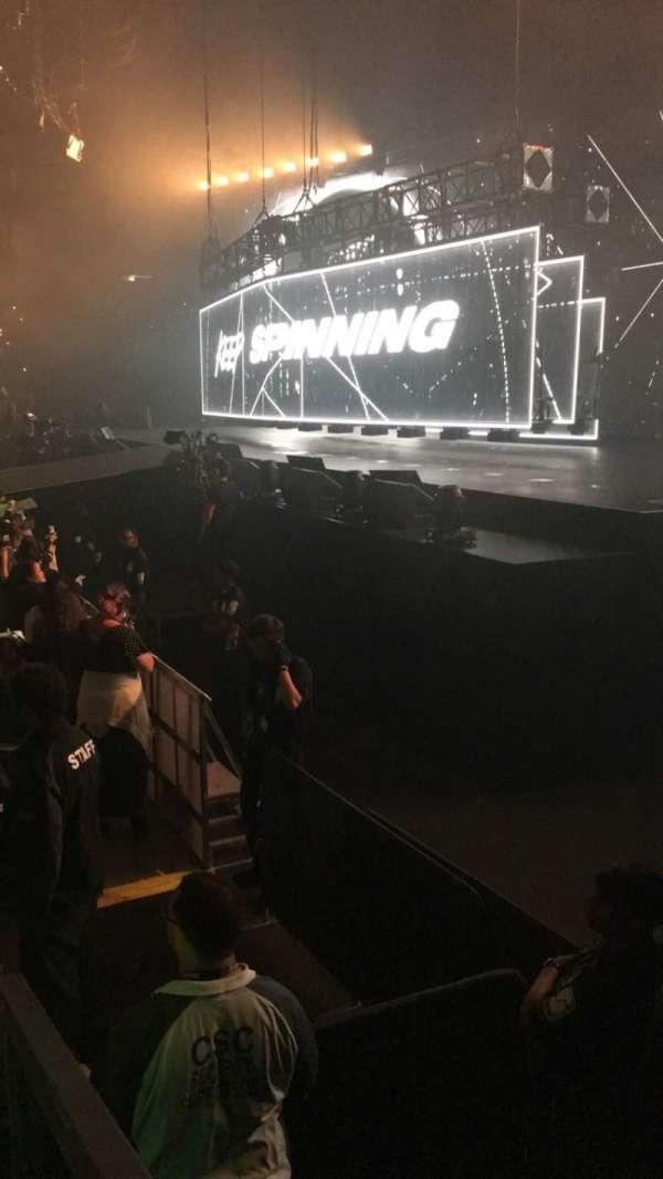 Oracle Arena, sección: 127, fila: 3, asiento: 11