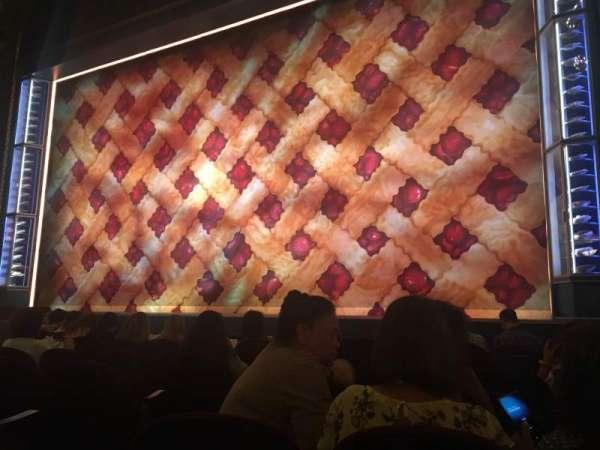 Brooks Atkinson Theatre, sección: Orchestra R, fila: F, asiento: 6