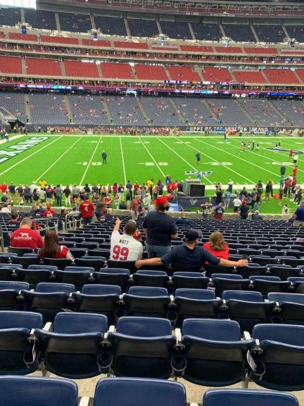 NRG Stadium, sección: 109, fila: W, asiento: 17