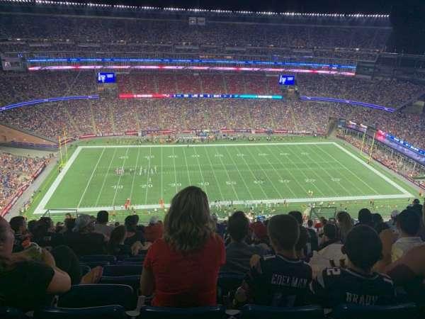 Gillette Stadium, sección: 332, fila: 23, asiento: 15
