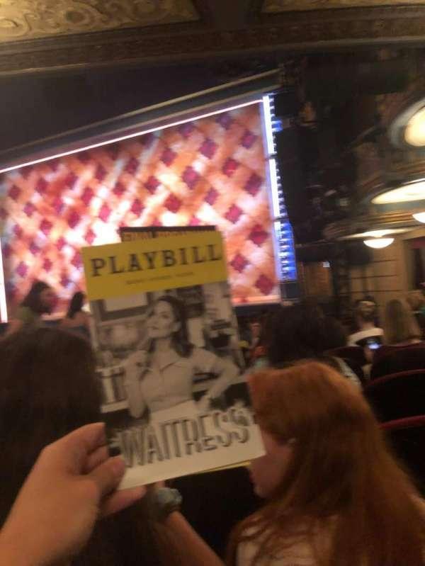 Brooks Atkinson Theatre, sección: Orchestra R, fila: N, asiento: 20
