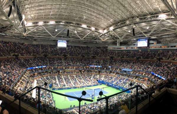 Arthur Ashe Stadium, sección: 328, fila: C, asiento: 3