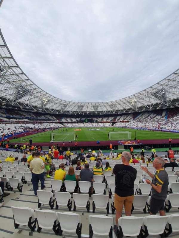 London Stadium, sección: 119, fila: 18, asiento: 7