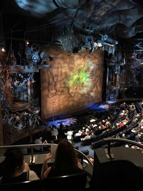 Gershwin Theatre, sección: Front Mezzanine L, fila: CC, asiento: 7