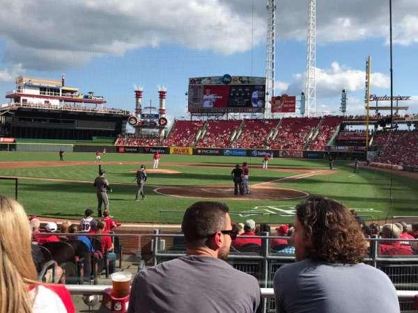 Great American Ball Park, sección: 121, fila: O, asiento: 5