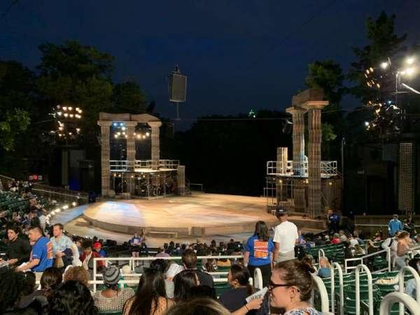 The Delacorte Theater in Central Park, sección: H, fila: S, asiento: 802
