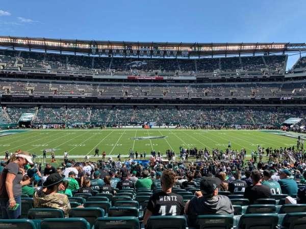 Lincoln Financial Field, sección: 101, fila: 35, asiento: 8