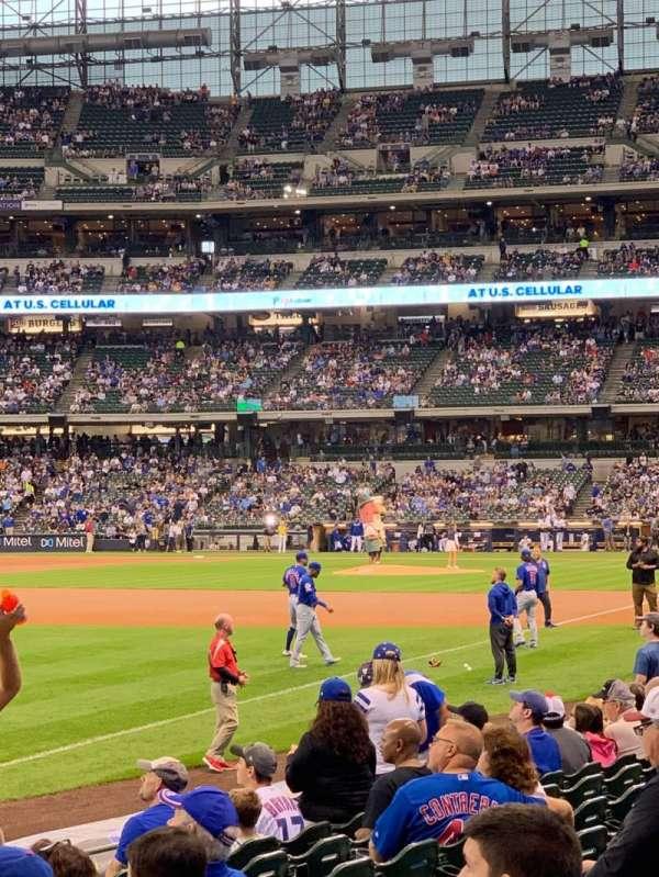 American Family Field, sección: 128, fila: 11, asiento: 11