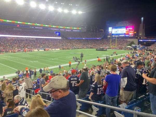 Gillette Stadium, sección: 115, fila: 20, asiento: 3