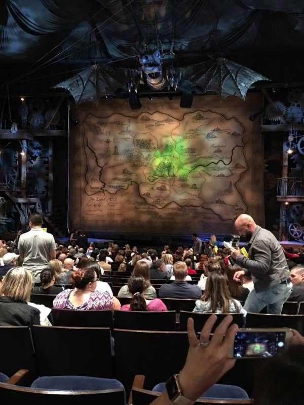 Gershwin Theatre , sección: Orchestra C, fila: O, asiento: 115