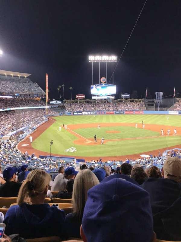 Dodger Stadium, sección: 112LG, fila: L, asiento: 4