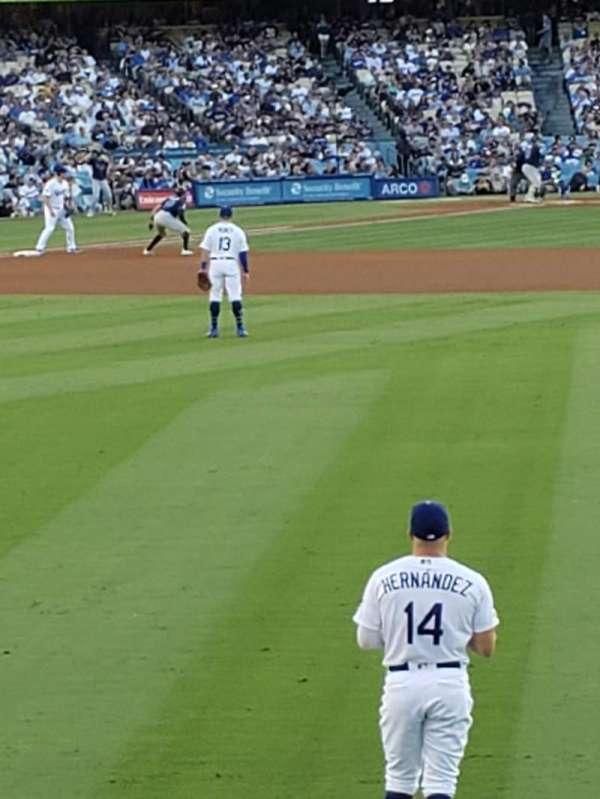 Dodger Stadium, sección: 308PL, fila: A, asiento: 12