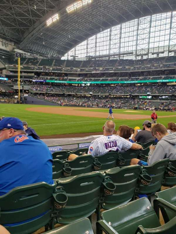 American Family Field, sección: 126, fila: 6, asiento: 15