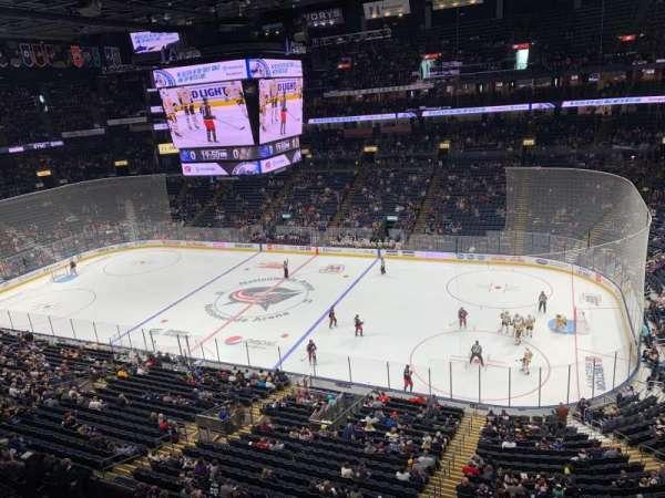 Nationwide Arena, sección: 215, fila: A, asiento: 12