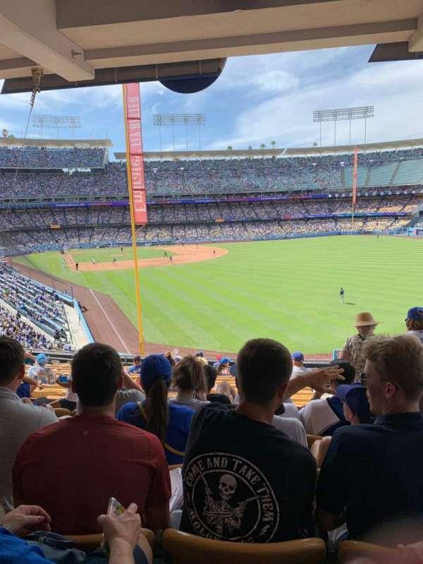 Dodger Stadium, sección: 166LG, fila: S, asiento: 19