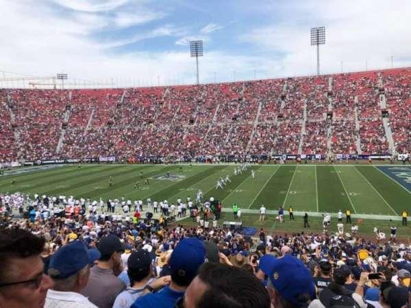 Los Angeles Memorial Coliseum, sección: 105A, fila: 36, asiento: 10