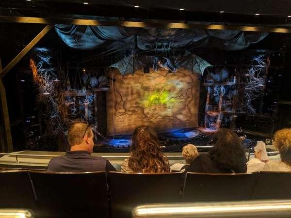 Gershwin Theatre, sección: Rear Mezzanine L, fila: F, asiento: 9