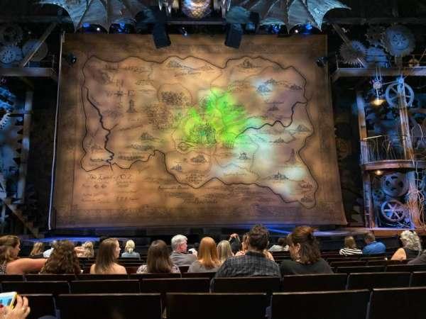 Gershwin Theatre, sección: Orchestra C, fila: G, asiento: 109