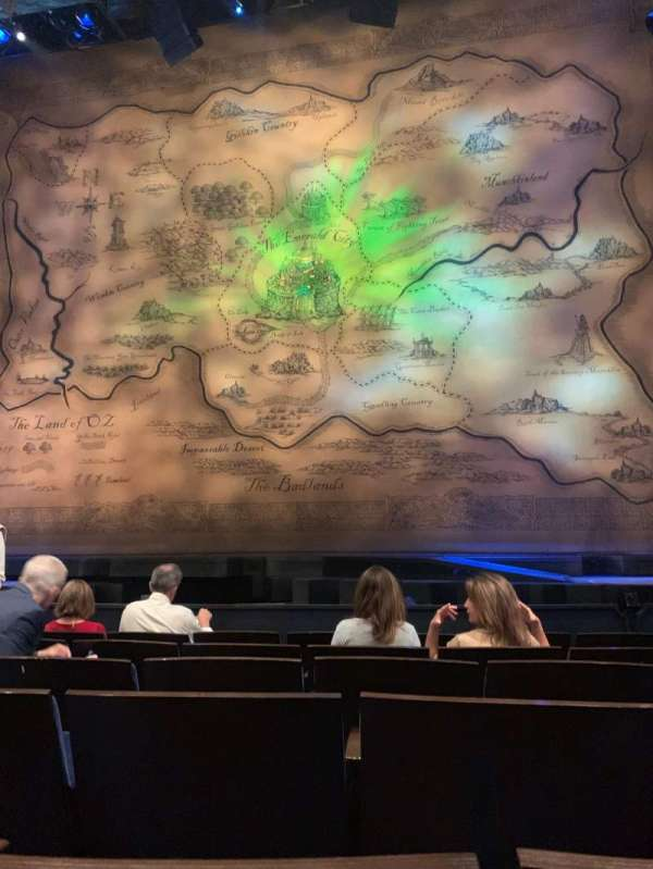 Gershwin Theatre, sección: Orchestra C, fila: B, asiento: 114