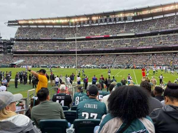 Lincoln Financial Field, sección: 104, fila: 6, asiento: 16