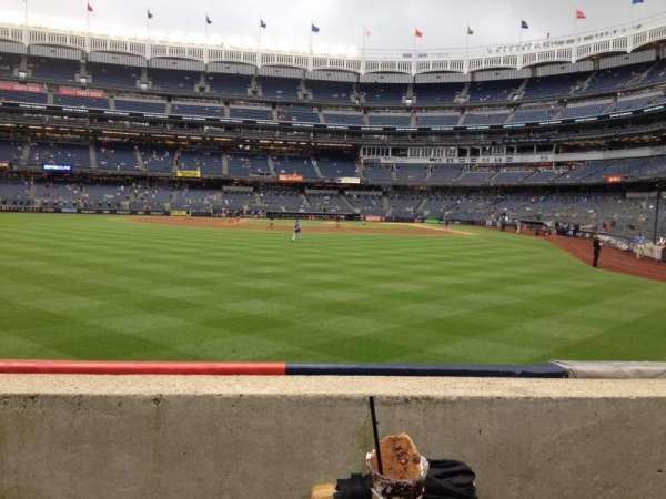 Yankee Stadium, sección: 135, fila: 1