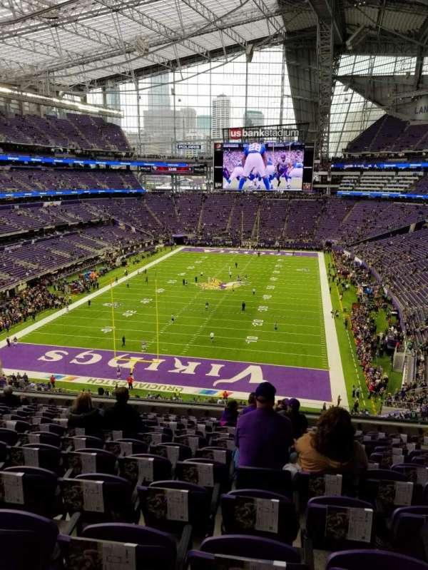 U.S. Bank Stadium, sección: 222, fila: 12, asiento: 8