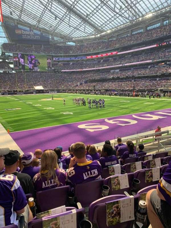 U.S. Bank Stadium, sección: 143, fila: 9, asiento: 9