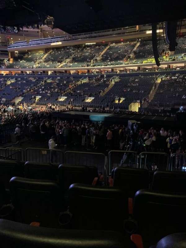 Madison Square Garden, sección: 109, fila: 8, asiento: 12