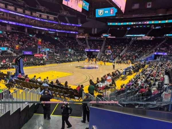 Chase Center, sección: 107, fila: 7, asiento: 3