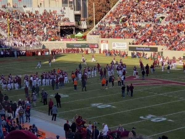 Lane Stadium, sección: 18, fila: kk, asiento: 6