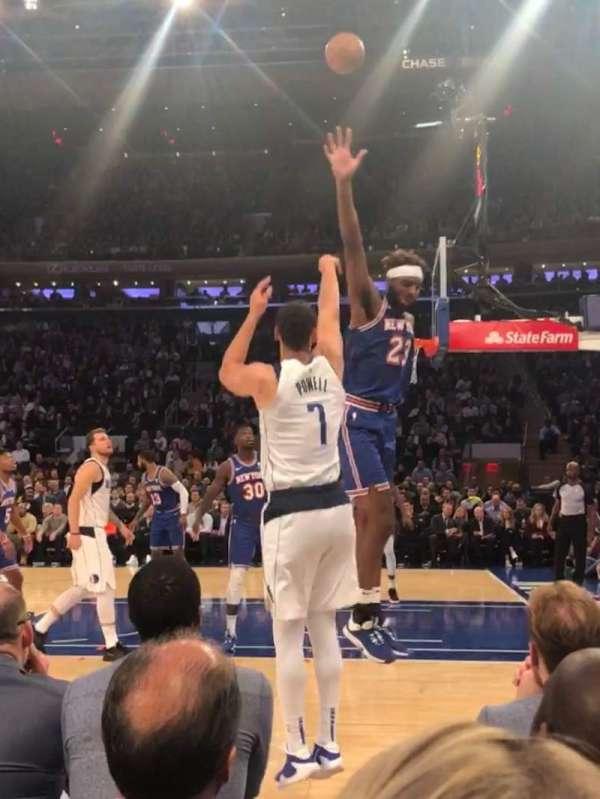 Madison Square Garden, sección: 6, fila: 1, asiento: 16