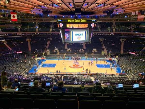 Madison Square Garden, sección: 211, fila: 8, asiento: 7