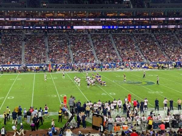 Los Angeles Memorial Coliseum, sección: 123A, fila: 34, asiento: 6