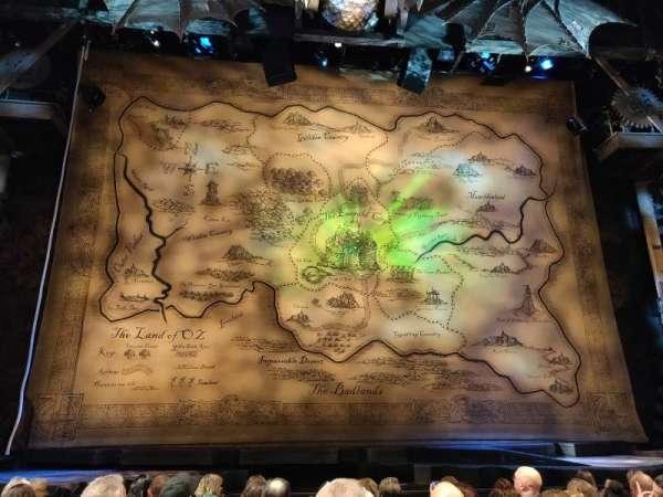 Gershwin Theatre, sección: orchestra c, fila: c, asiento: 107