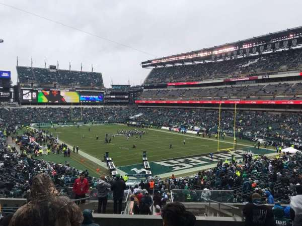 Lincoln Financial Field, sección: 108, fila: 43, asiento: 16