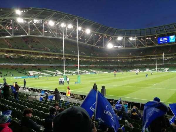 Aviva Stadium, sección: 133, fila: P, asiento: 19