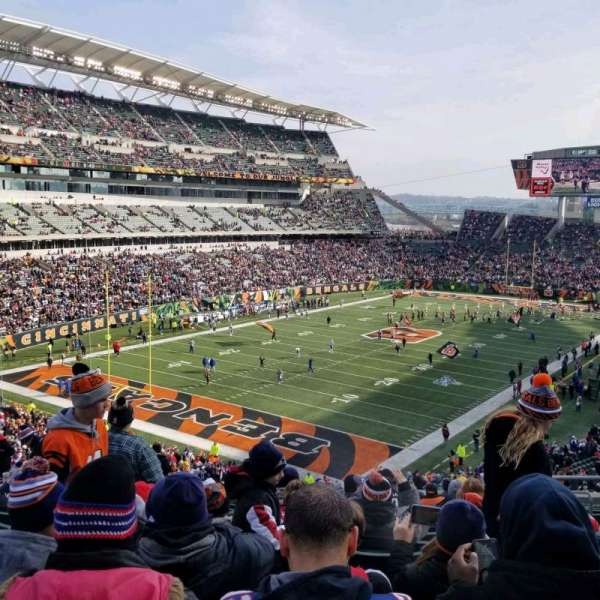Paul Brown Stadium, sección: 220, fila: 17, asiento: 5