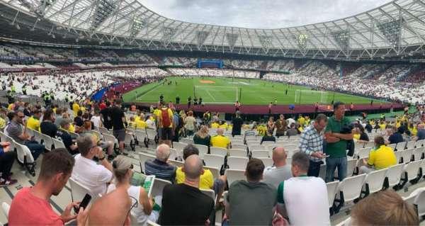 London Stadium, sección: 118, fila: 19, asiento: 91