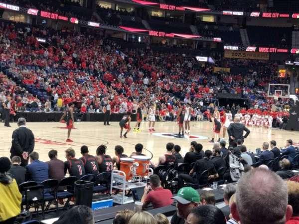Bridgestone Arena, sección: 114, fila: DD, asiento: 1